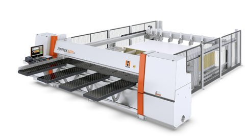 Panel saw/beam saw ZENTREX 6220 lift from HOLZ-HER: complete solution with elevating table for a high throughput mass production