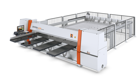 Pressure beam saw/panel saw HOLZ-HER ZENTREX 6220 dynamic is an ideal configuration for charging the machine using intelligent vacuum charging systems