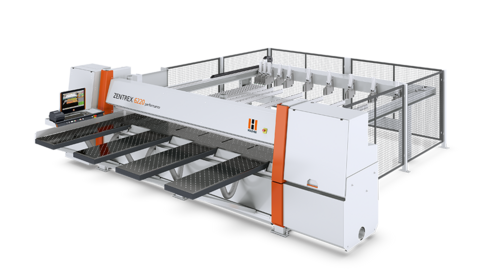 Pressure beam saw ZENTREX 6220 performance: extensive equipment and absolute cutting precision
